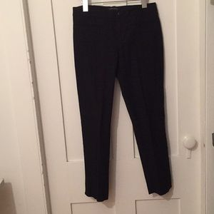 BANANA REPUBLIC TEXTURED BLACK PANTS